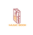 music book design template vector image