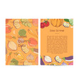 natural organic nutrition poster with vegetables vector image