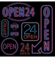 Neon Open Sign vector image