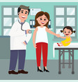 pediatrician doctor and the vector image vector image