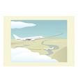 Phases of a flight Climbing and approach vector image vector image