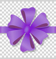purple flower bow on transparent background vector image vector image