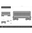 railroad delivery line icon vector image