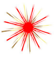 red star burst abstract icon vector image