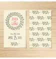 save date cards vector image