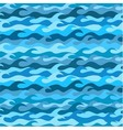 Seamless pattern made from frozen sea waves vector image vector image