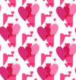 Seamless pink valentine spotty pattern vector image