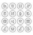 set round line icons medical analysis vector image vector image