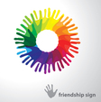 sign of friendship vector image