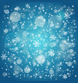snowfall in winter abstract background background vector image vector image
