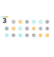 snowflakes pixel perfect icons well-crafted vector image vector image