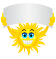 Sun with sign vector image vector image