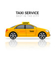 taxi car app cab flat yellow car icon taxi vector image vector image