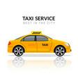 taxi car app cab flat yellow car icon vector image