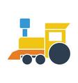 train toy icon vector image vector image