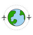 travel around planet concept vector image vector image