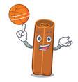 with basketball cinnamon character cartoon style vector image vector image