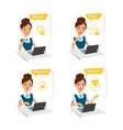 woman buys clothes searchorderpaymentdelivery vector image vector image