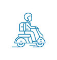 working as a courier linear icon concept working vector image vector image