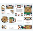 Stationery template design with colorful mandalas vector image