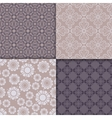 Violet and serenity geometric pattern set vector image
