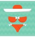 bright summe bikini vector image