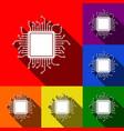 cpu microprocessor set of vector image