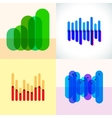 Infographics set with overlapping bars vector image