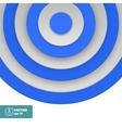 Blue Target on white vector image