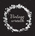 Vintage frames of cute flower vector image