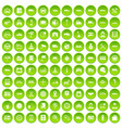 100 auto icons set green circle vector image vector image