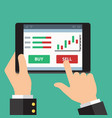 mobile foreign exchange trading flat design