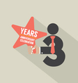 3rd Years Anniversary Typography Design vector image vector image