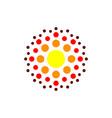 abstract molecule logo template vector image