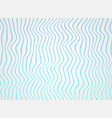 abstract of gradiene sea blue lines wave in vector image vector image