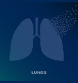 abstract of human lungs on vector image vector image
