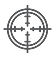 aim line icon focus and circle target sign vector image