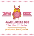 Baby Shower or Arrival Cards - Owl Theme vector image vector image