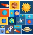 Background with solar system planets and celestial vector image vector image