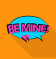 be mine icon pop art style vector image
