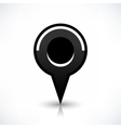 Black map pin icon flat round location sign vector image vector image