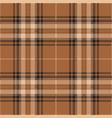 brown and black tartan plaid scottish pattern vector image vector image