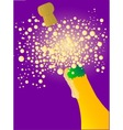 Bubbly New Year vector image
