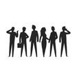 business people silhouettes businesswoman vector image