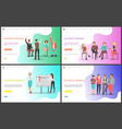 business training listeners and presentation vector image vector image