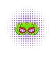 Carnival mask icon comics style vector image vector image