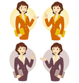 Cartoon Businesswoman Set vector image