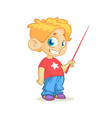 cartoon cute boy presenting vector image
