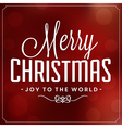 christmas typographic background merry vector image vector image