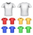 colorful male t-shirts set vector image vector image